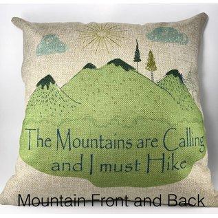 The Traveled Lane Decorative Burlap Pillows