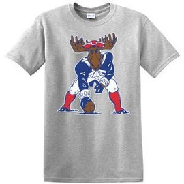Woods & Sea Patriot Minute Man Moose S/S Adult T-shirt