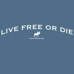 Woods & Sea New Hampshire NH Live Free or Die Adult T-shirt
