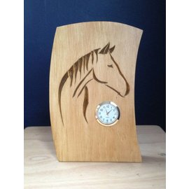 Tim Kierstead Horse Themed Hand Carved Wooden Clock