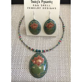 Suzy's Pysanky Jewelry Pysanky Egg Shell Necklace