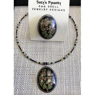 Suzy's Pysanky Jewelry Pysanky Egg Shell Necklace