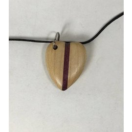 Tim Kierstead Two Tone Wood Heart Necklace