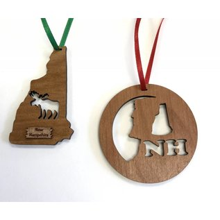 Laserkrafts New Hampshire Wooden Ornaments