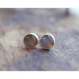 MoodiChic Jewelry Labradorite Studs - 8 mm