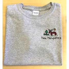 DF Embroidery New Hampshire Moose Embroidered T-Shirt (Youth)