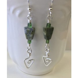 John Marc Bimonte Green Jasper Earrings