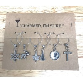 Kind Finds New Hampshire Wine Glass Charm Set