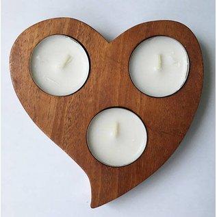 Tim Kierstead Wood Heart Tealight Candle Holder