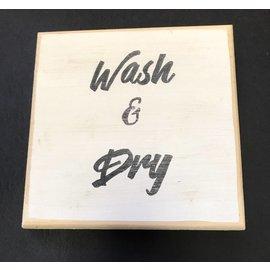 Cedar Porch Designs Wood Sign - Wash & Dry