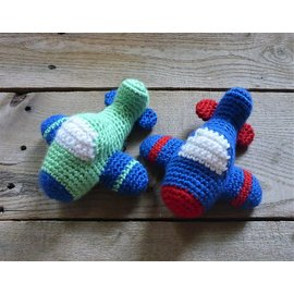 White Mountain Yarnery Crochet Stuffed Airplane Toy