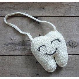 White Mountain Yarnery Crochet Tooth Fairy Door Hanger