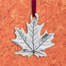 Danforth Pewter Pewter Maple Leaf Ornament