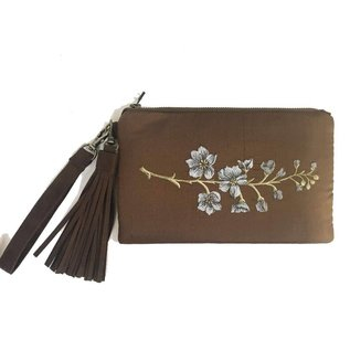 Under the Leaf Designs Vegan Suede Clutch / Wristlet