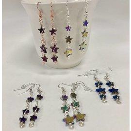Wyrding Studios Hematite Star Earrings