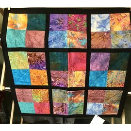 Cynthia Johnson Black Batik Quilt