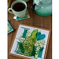 The Traveled Lane 2 in 1 Coaster / Trivet Set - I Love New Hampshire Map