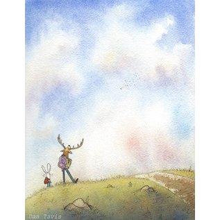 "Dan Tavis Watercolor Illustration Print - 8.5""x11"""