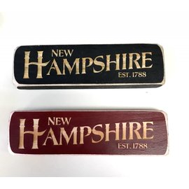 Eastern Illustrating Wood New Hampshire Magnet or Shelf Sign