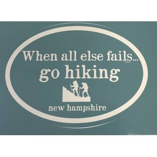 Eastern Illustrating Go Hiking New Hamphsire Decal / Sticker