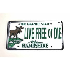 Eastern Illustrating New Hampshire License Plate Rubber Magnet