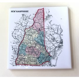 The Traveled Lane New Hampshire Single Ceramic Coaster