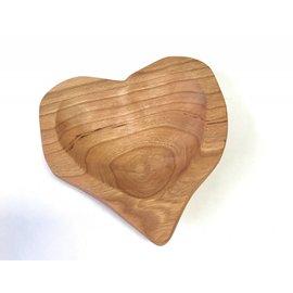 RJM Woodworks Cherry Heart Dish