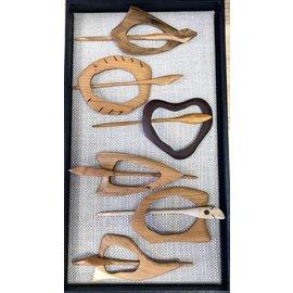 RJM Woodworks Wood Scarf / Shawl Pin