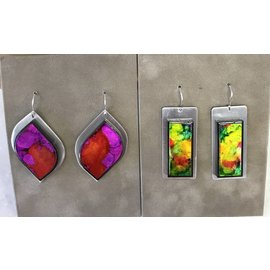 PGaige Design Aluminum Alcohol Painted Earrings