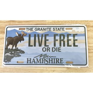 Eastern Illustrating New Hampshire Live Free or Die License Plate