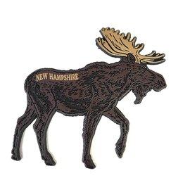 Eastern Illustrating Brown Moose Rubber Magnet