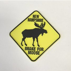 Eastern Illustrating New Hampshire Brake for Moose Rubber Magnet