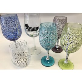 The Painted Vessel Painted Wine Glasses