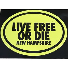 Eastern Illustrating Live Free or Die New Hampshire Decal / Sticker (yellow)