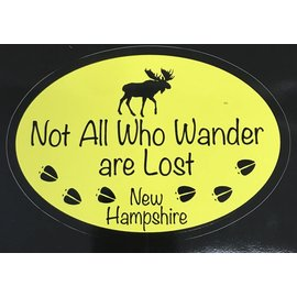 Eastern Illustrating NH Not All Who Wander are Lost Decal / Sticker