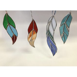 Melanie Hamilton Stained Glass Feathers