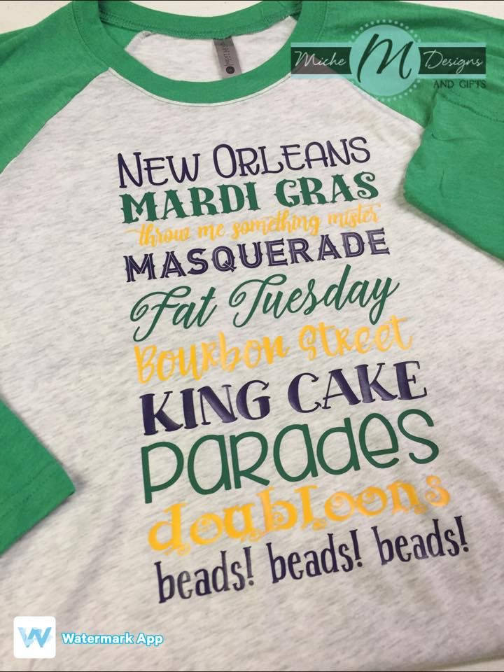 8c832dde Subway Mardi Gras Shirt - Miche Designs and Gifts