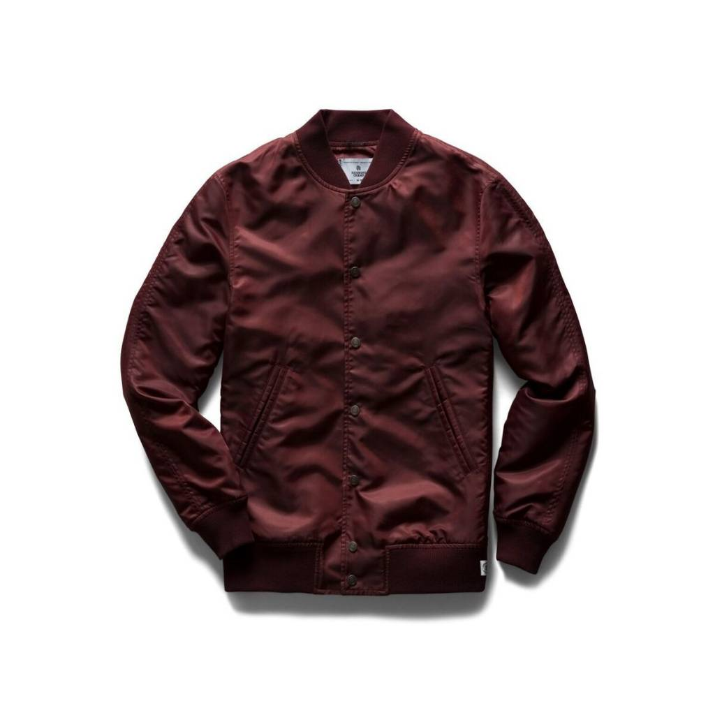 Reigning Champ L/W Crimson Stadium Jacket