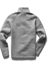 Reigning Champ White Knit Tiger Fleece HZ Pullover