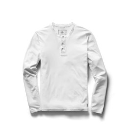 Reigning Champ Knit Cotton Jersey L/S Henley