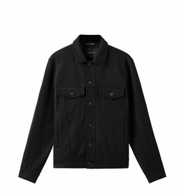 wings + horns Woven Compressed Wool Trucker Jacket