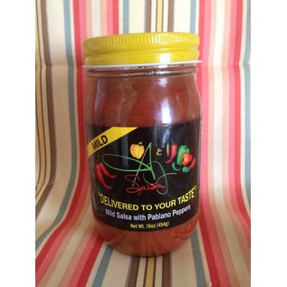 A & J Salsa A & J Salsa MILD with Pablano Peppers MIO