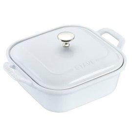 Staub Staub Ceramic Covered Square Baking Dish 9 inch White