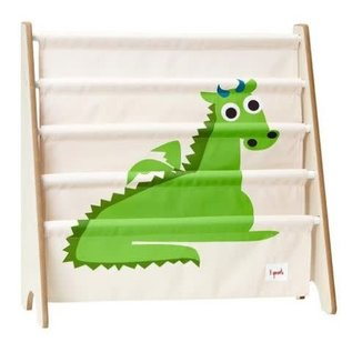 3 Sprouts 3 Sprouts Book Rack Dragon Green