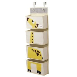3 Sprouts 3 Sprouts Hanging Wall Organizer Giraffe Yellow