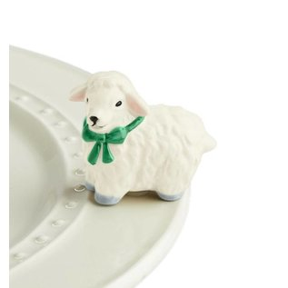 Nora Fleming Nora Fleming Mini I Love Ewe! white lamb