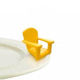 Nora Fleming Nora Fleming Mini Chillin' Chair Yellow yellow adirondack chair