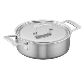 Demeyere Demeyere Industry Stainless Steel Deep Saute Pan 4 Qt with Lid