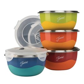 Fiesta Fiesta 8pc Prep Bowl Set dual color