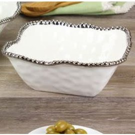 Pampa Bay Pampa Bay Porcelain Medium Square Bowl